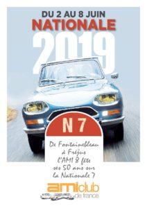 14e Nationale Ami 2019. L'AMI 8 fête les 50 ans sur la Nationale 7.