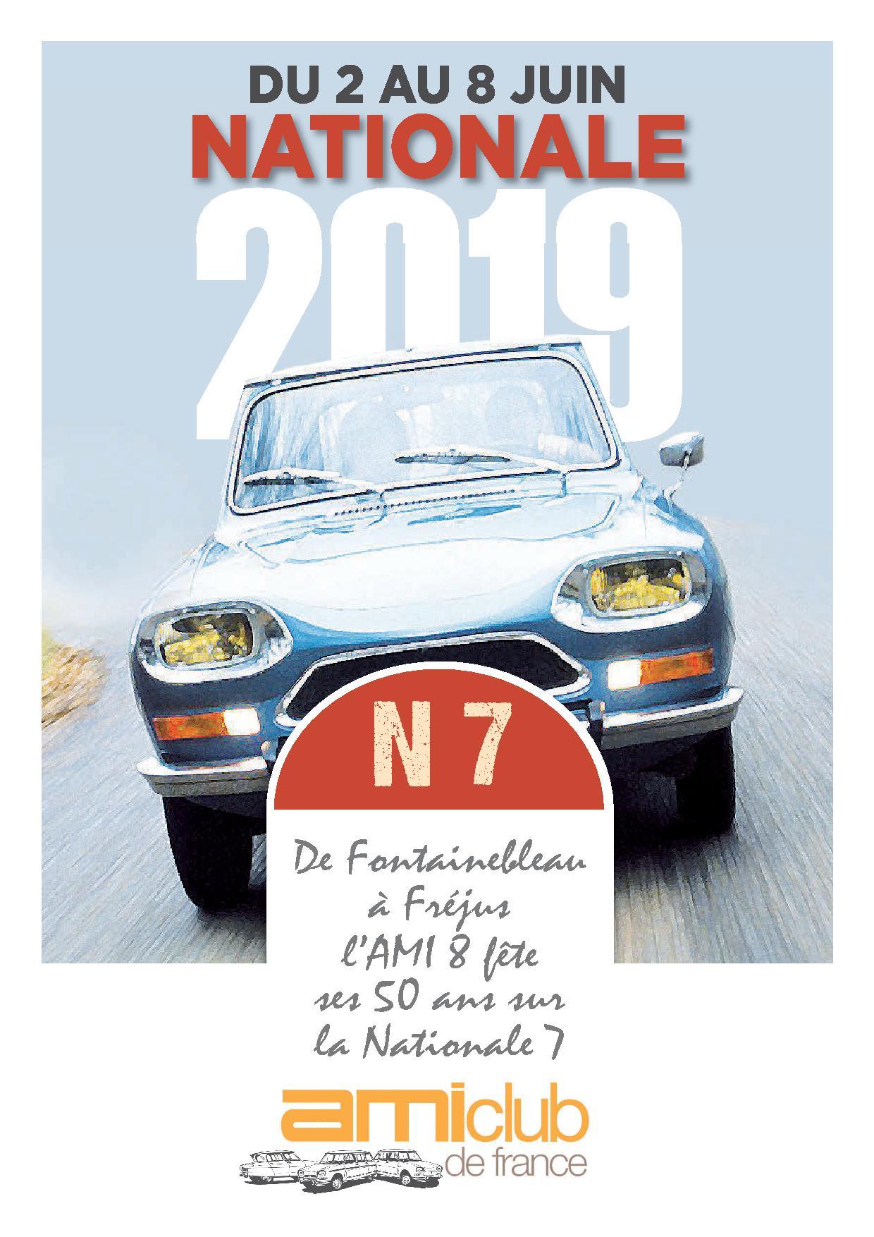 Nationale Ami 2019, les 50 ans sur la Nationale 7